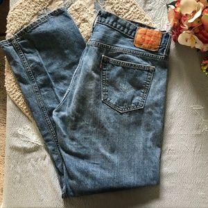 Levi's 569 Light Wash Jeans 36x34 *9S*